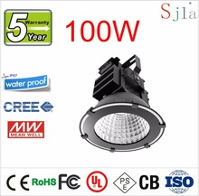 USA CREE Mean Well Basketball Stadium Football Field Golf Harbour Airport Outdoor Lighting IP65 11325LM 100W Led High Bay Light(China (Mainland))