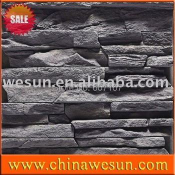 2014 Direct Selling New Arrival Solid Surface Eco-friendly Artificial Culture Stacked Ledgestone Wall Tile