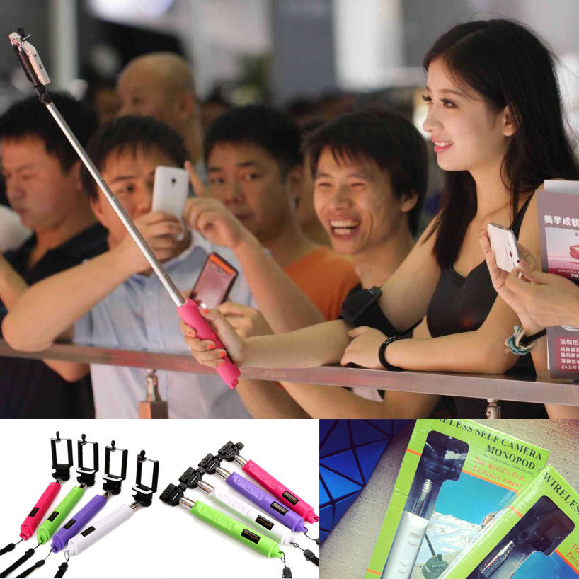 zooming fuction wireless bluetooth monopod combo selfie stick for iphone 6 5 4s samsung note s4. Black Bedroom Furniture Sets. Home Design Ideas