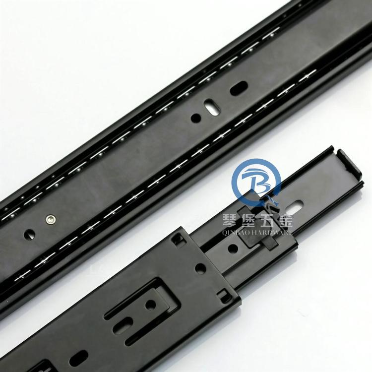 The world's best black drawer track guide rail track mute three plus heavy metal(China (Mainland))