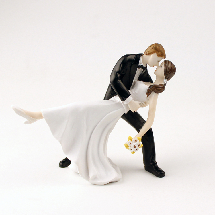Dip Dancing Wedding Cake Topper Couple Figurine 2015