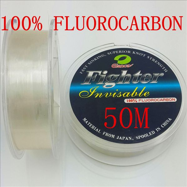 Buy 50m 100 fluorocarbon fishing line for Fishing line leader