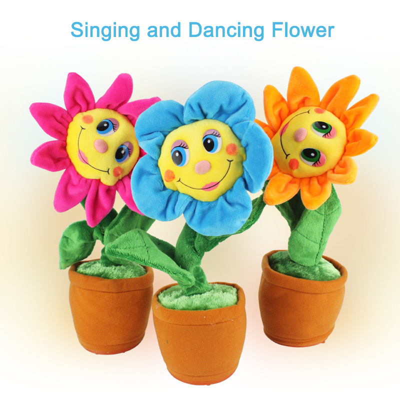Freeshipping 2016 Stuffed Creative Toys Singing and Dancing Sunflower Soft Plush Funny Toys Gift for Kids Children Birthday<br><br>Aliexpress