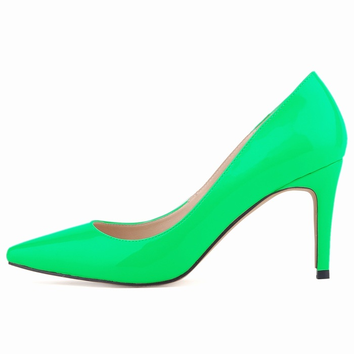 Zapatos Mujer Women Patent Leather Mid High Heels Pointed Corset Work Pumps  Court Shoes Us 4 11 D0074 Wedge Shoes Casual Shoes For Men From ... 53ee99e9434b