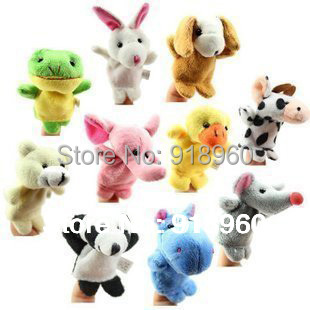 finger puppet 9 pcs/lot animal tell story props,finger puppets finger toys kids doll toys gift,fantoche de mao,fantoches de dedo