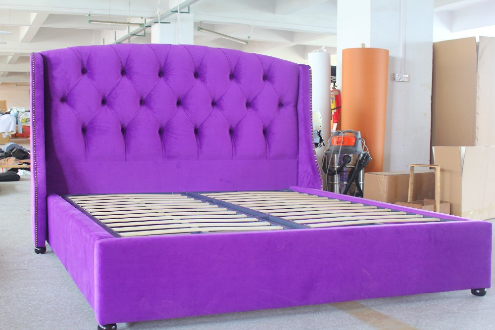 colorful fabric bed with heavy weight, fashionable and magnificent(China (Mainland))