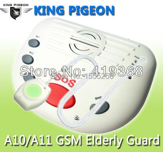 King Pigeon Children alarm gsm panic alarm,alarme casa,senior guarder alarm emergency call button +adaptor+sos button(A10)(Hong Kong)
