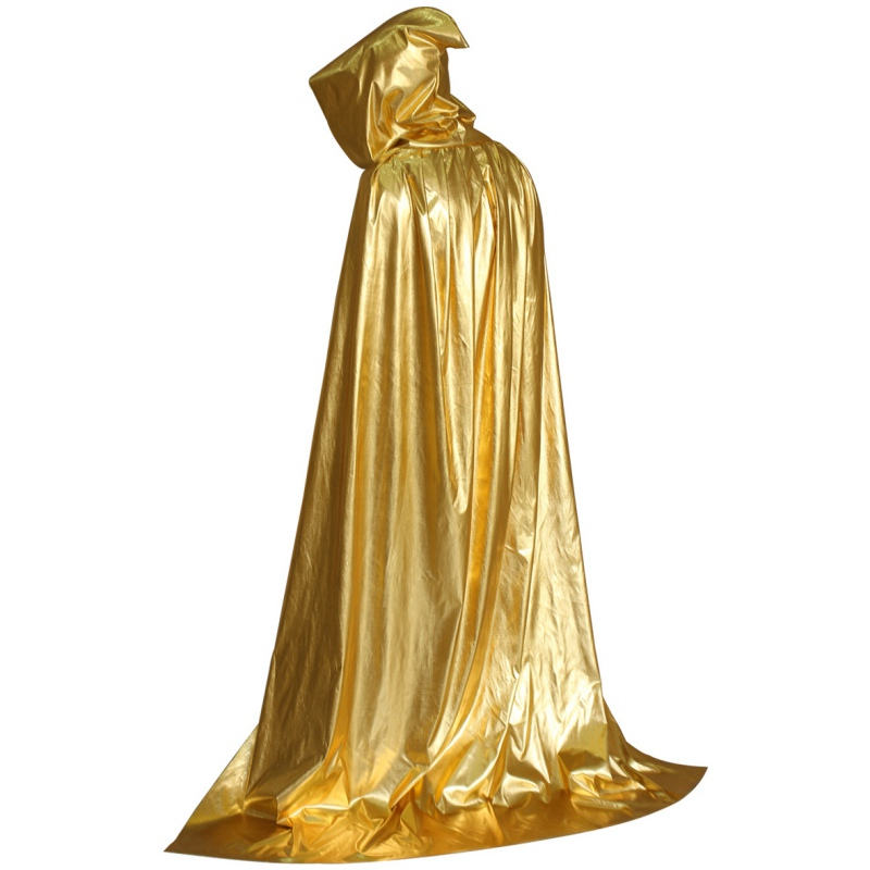 Adult Fancy Dress Halloween Costume Hooded Cloak Wedding Cape Wicca Robe(China (Mainland))