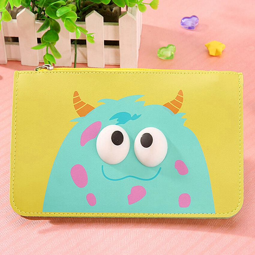 New Fashion Woman Bag Cartoon Cute PU Leather Messenger Bag Phone Money Storage Clutch Cute Mini Large Capacity Wallet Bags(China (Mainland))