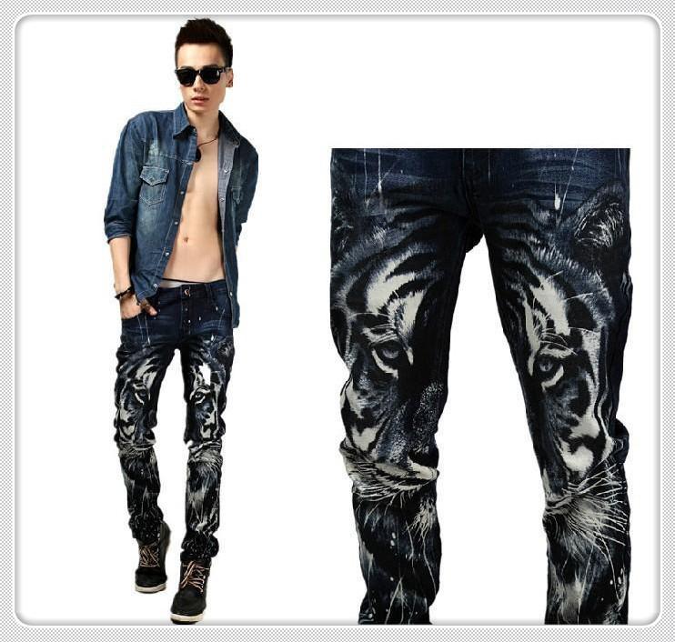 Рисунок на мужские джинсы