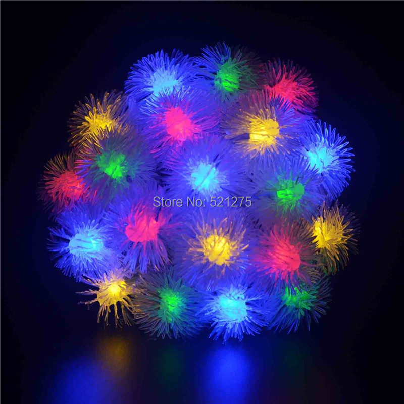 solar outdoor lighting string solar lamp light chuzzle ball 20Led fairy waterproof lights for Christmas garden party decoration(China (Mainland))