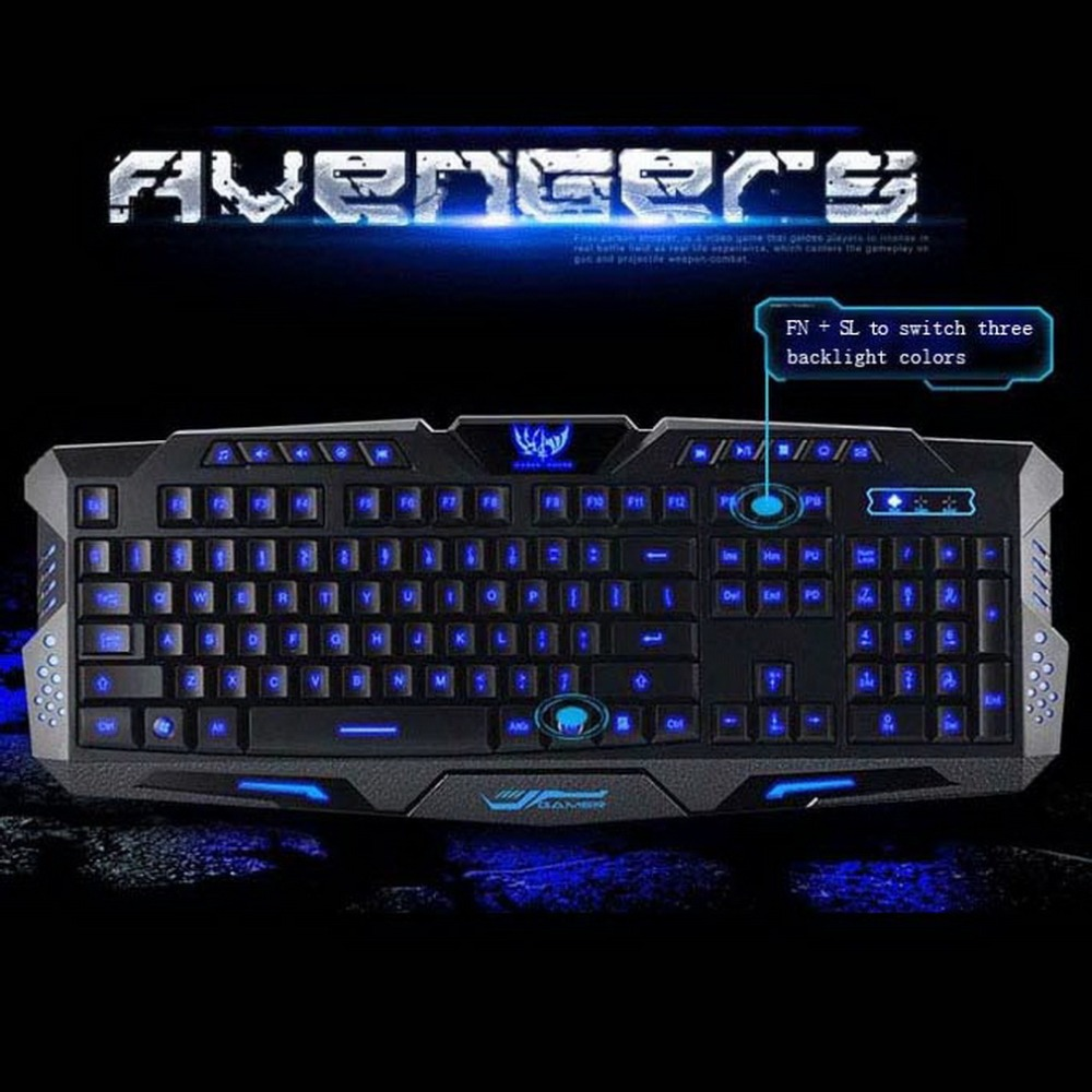 3-Color Switch Backlight gamer teclados Wired Mechanical Feel Keyboard PC Computer Gaming lol dota Backlit Multimedia Keyboard<br><br>Aliexpress