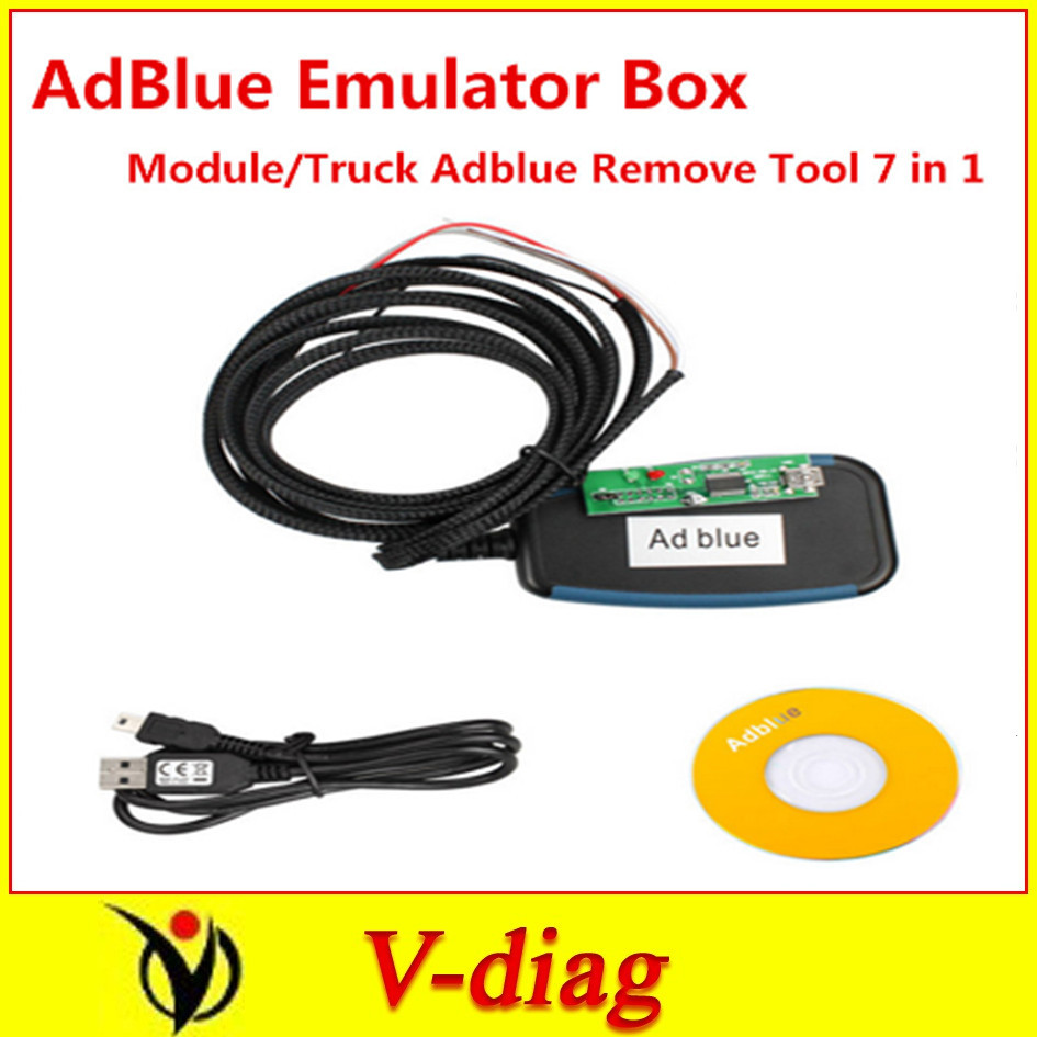 100% working 7 in 1 7in1 Adblue Emulation/Truck Remove Tool , MAN, Scania, Iveco, DAF, Volvo Renault(China (Mainland))