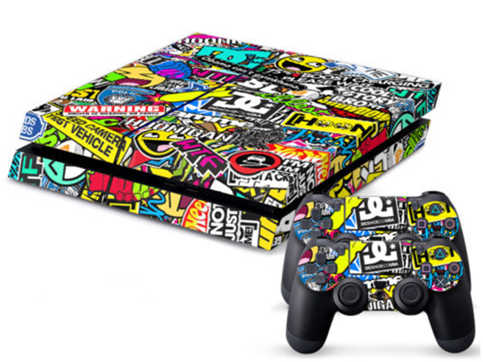 Fashion BOMB Bombing Graffiti Sticker Decal For Sony For PS4 Playstati