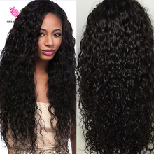 180 Density Full Lace Human Hair Wigs Virgin Malaysian Hair Loose Curly Glueless Full Lace Wig & Lace Front Wigs For Black Women(China (Mainland))