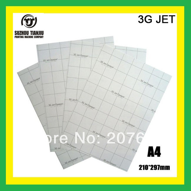 3G JET (A4) Dark color heat transfer paper,t-shirts transfer paper,can be cutting paper
