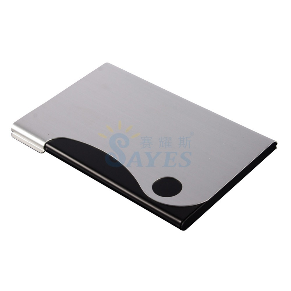 Ultrathin Metal Business Card Holders Slim Fit Pockets