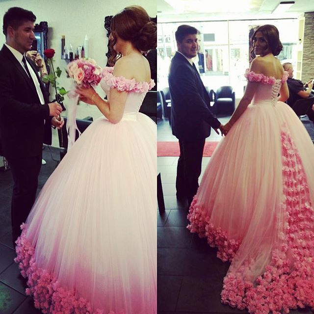 Online Buy Wholesale pink and off white wedding dresses from China ...