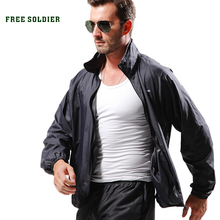 outdoor camping tactical skin Spring summer Breathable ultra-thin quick-drying skin trench coat Men's jacket FREE SOLDIER(China (Mainland))