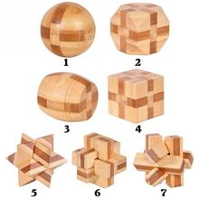 3D Wooden Puzzle IQ Brain Teaser Interlocking Burr Puzzles Game Toy for Adults Children Kids(China (Mainland))