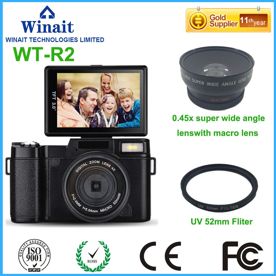 24MP Dslr similar digital camera with 3.0/'/' TFT display and changeable lens camera digital free shipping