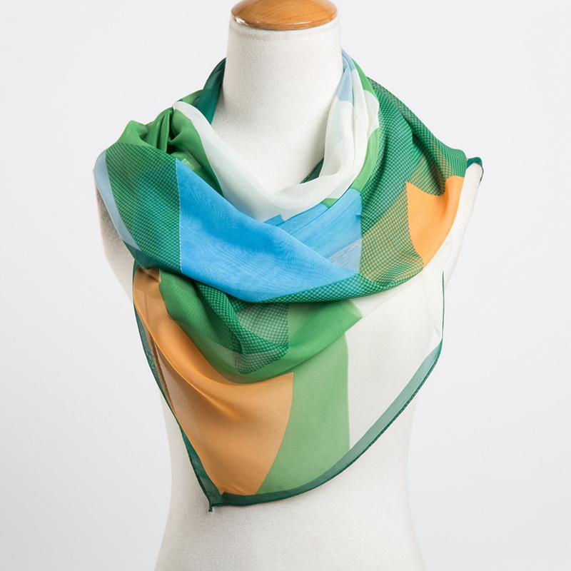 new 2015 women s fall fashion chiffon scarf geometric thin shawl in Autumn and Winter desigual