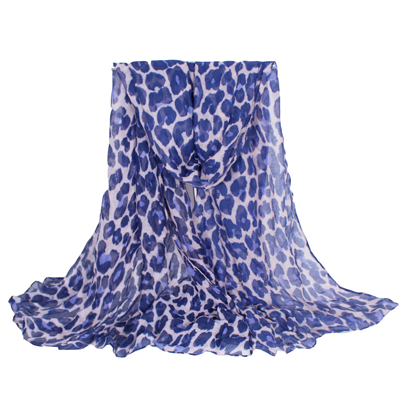 Primark Supermarket Hot Sale Leopard Women Scarf Blue Spot Soft Long Shawls and Scarves Size 180*100cm No.12016(China (Mainland))