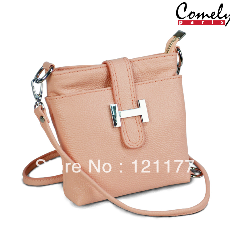Free Shippin Comely new women leather handbag messenger bags leather bags brand designer tote handbag free shipping L2044(China (Mainland))