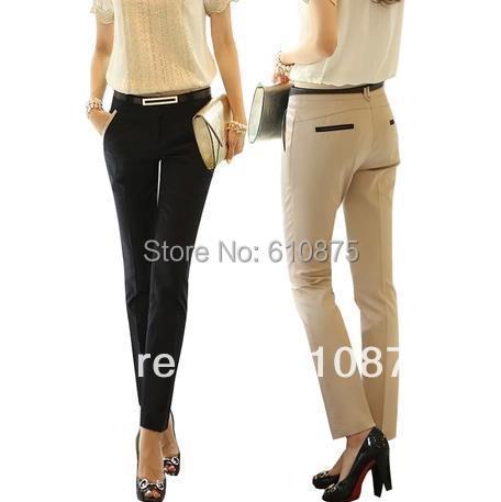 women's casual pants ol slim skinny pencil pants plus size female trousers,R93