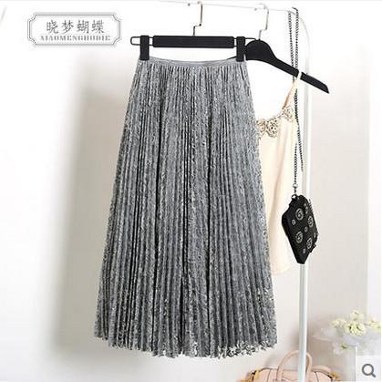 Women Long Skirt 2016 Spring &amp; Autumn Fashion Elegant White Gray Black Lace Skirt Vintage Mid-Calf Skrit Free SizeОдежда и ак�е��уары<br><br><br>Aliexpress