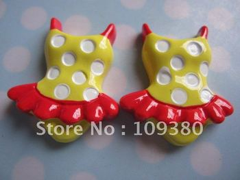 2012 new 20pcs/lot, Flat back resin bikini
