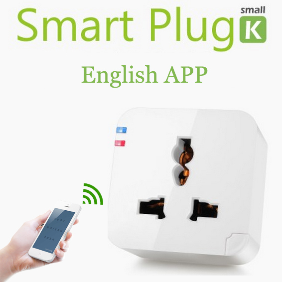 Kankun Wifi Smart plug socket outlet 220V EU AU UK Kankun small k1 electrical socket to remote control by english app(China (Mainland))