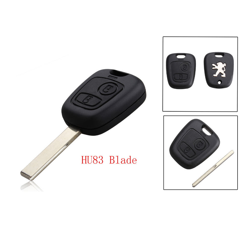 2 Buttons Remote Key Shell For Peugeot 307 Blanks Car Key Case Cover (With Groove)(China (Mainland))