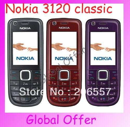 3120c Original Unlocked Nokia 3120 classic mobile phone 3G Camera Bluetooth MP4 Cheap Cell Phone refurbished 1 year warranty(China (Mainland))