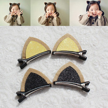 Free Shipping Summer Style Cat Ear Clips For Hair Kid Hair Clips Girls Hairpins Baby Hair Pin K6577