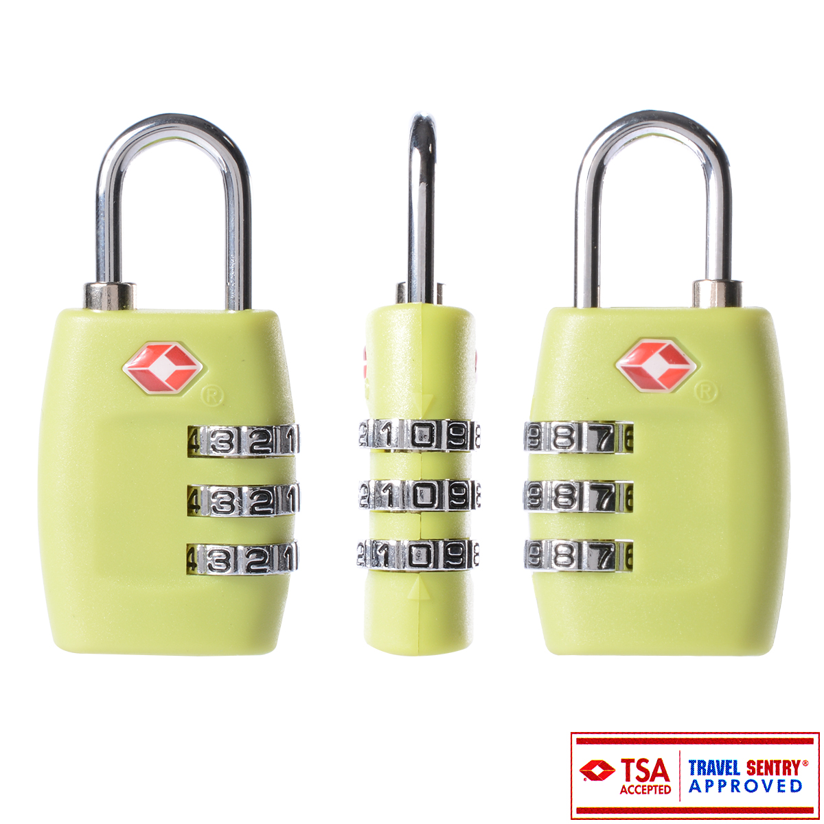 Resettable Security 3 Digit Dial Combination Code Padlock