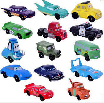 High Quality PVC Pixar Car Figures Toy Cars Toys 2 Full Set for Gift Free Shipping 14pcs/lot(China (Mainland))