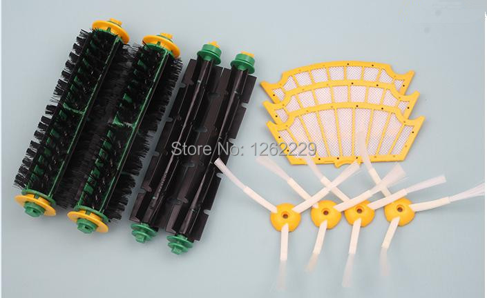 12pcs/set Kit for Irobot Roomba 500 510 530 532 535 540 550 560 562 570 572 580 581 590 610 all Green, Red, Black cleaning head(China (Mainland))