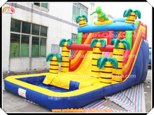 9.5x4.5m Best Selling large inflatable toy water slide,giant inflatable pool slide,amusement park water slide for kid(China (Mainland))