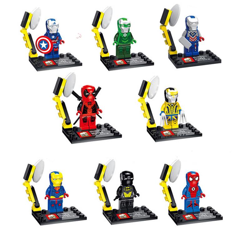 8Pcs/Lot Marvel Avengers Super Hero Minifigure Building Blocks Bricks Toys Figures Battle Edition Iron Man Compatible With Legao(China (Mainland))