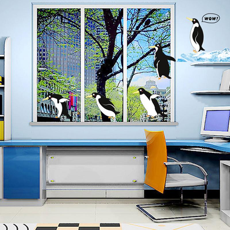 1pcs Penguin Vinyl Sticker Wall Decals Sofa Background Living Room Bedroom Nursery Home Accessories diy Poster adesivo de parede(China (Mainland))