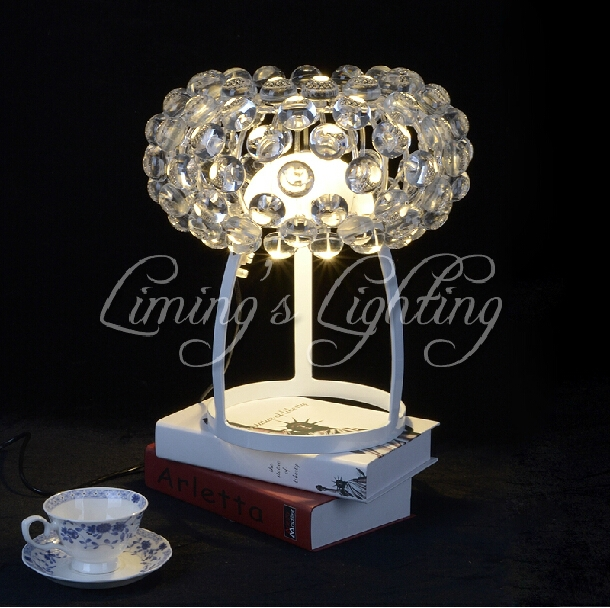 Italy Style European Crystal Home Ceiling Foscarini Caboche Ball Acrylic Ring Pendant Table Desk Lamp Light Lighting Chandelier(China (Mainland))