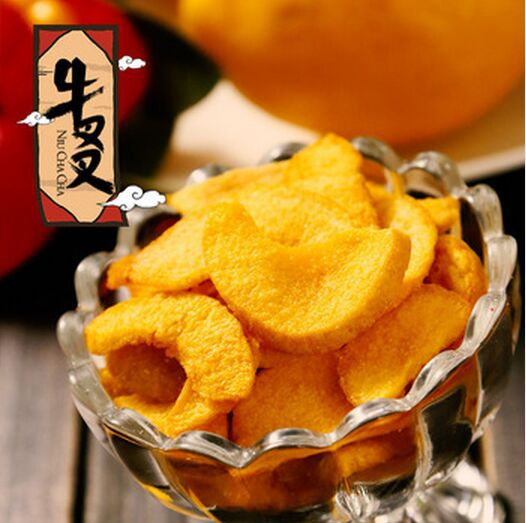 Cattle fork yellow peach chips dry fruits and vegetables dried fruit casual snacks new arrival 100g