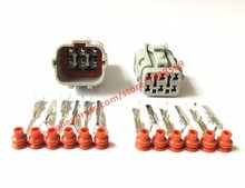 10 Sets Female Male 6 Pin Yazaki 7123-7464-40 7222-7464-40 Automotive Connector Auto Light Lamp Socket Connector Tail Light Plug(China (Mainland))