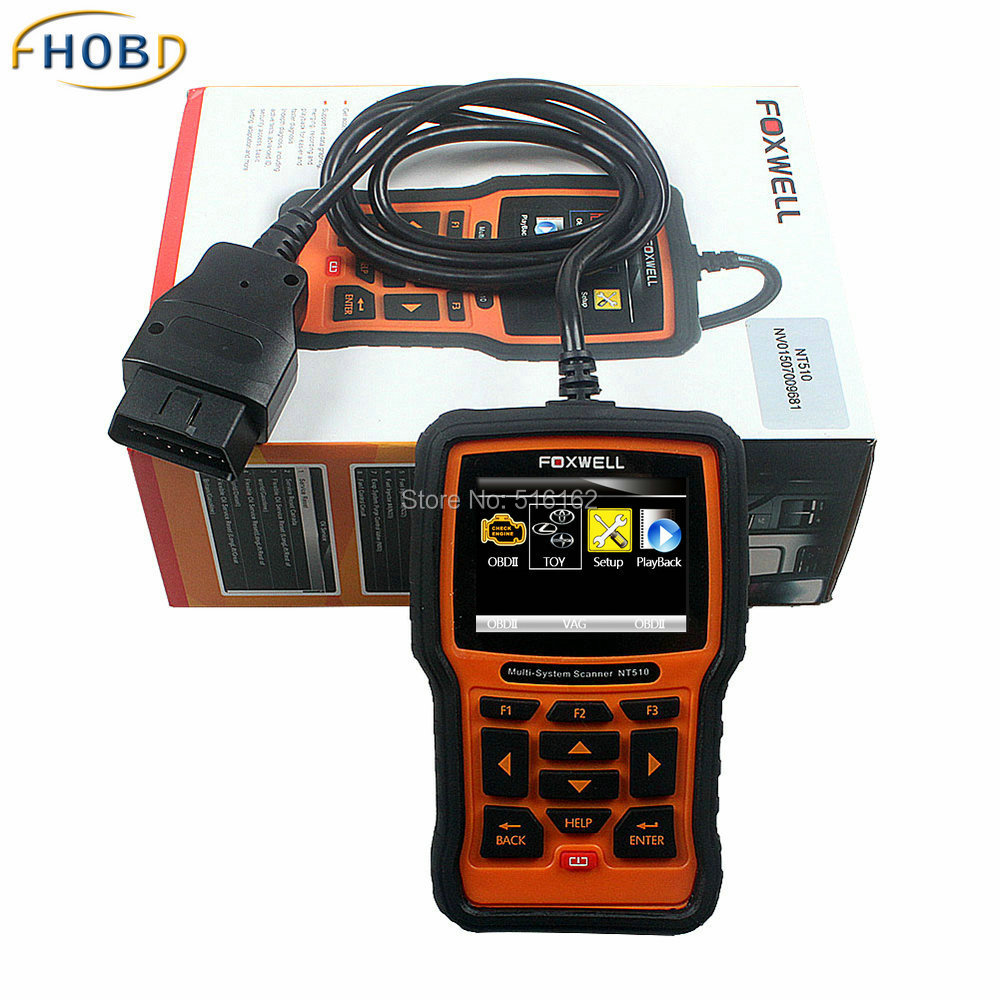 Professional OBD2 Scanner Foxwell NT510 For Toyota, Lexus, Sicon Airbag Air Bag Crash Data Reset ABS Engine Code Reader <br><br>Aliexpress