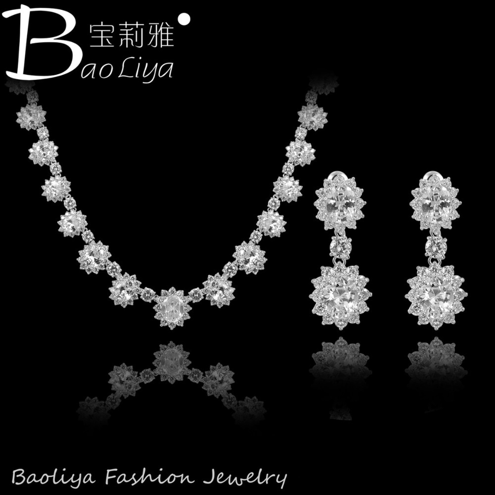 New Arrival Vintage Design Fashion Beautiful Platinum Plating AAA+ Swiss Cubic Zirconia Jewelry Set For Women <br><br>Aliexpress