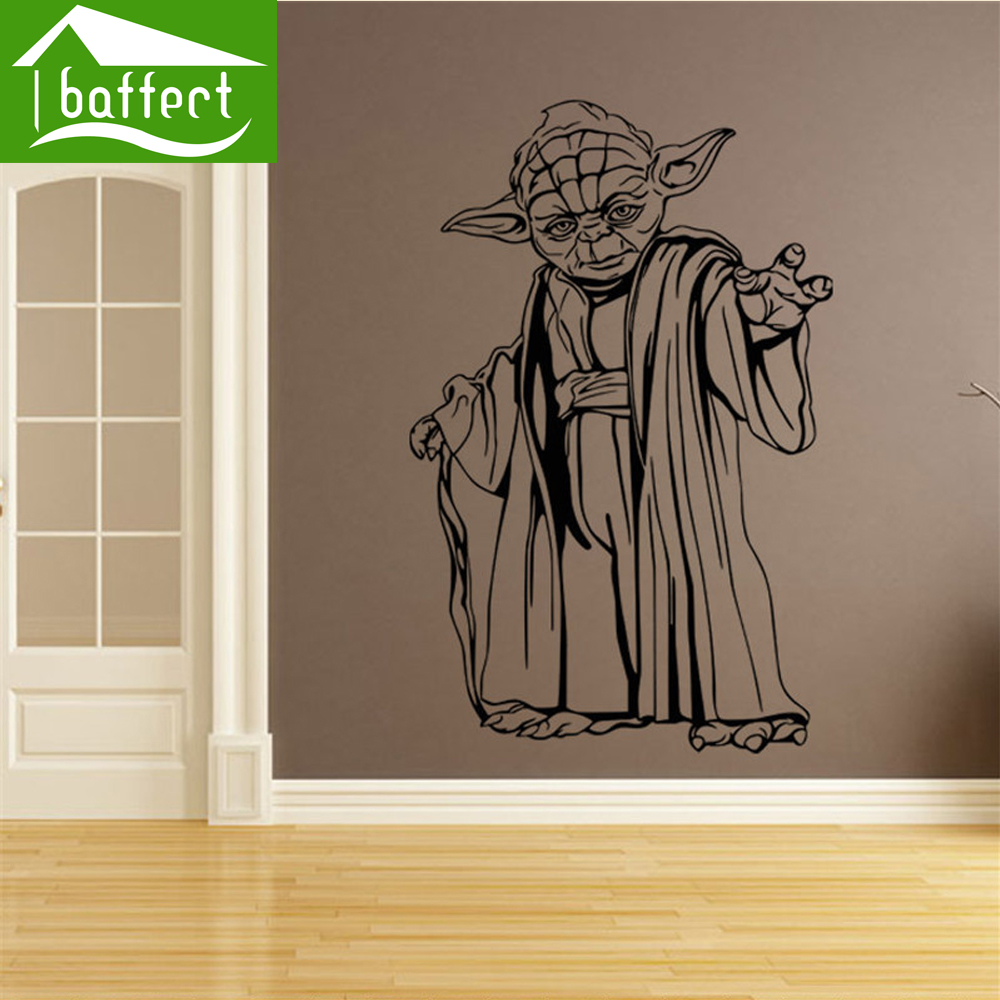 Star s War Removable Stickers wallpaper poster for kids adults living bedroom Decoration PVC sticker green home decor eal-ws46(China (Mainland))