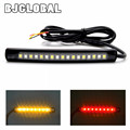 2016 New Universal 2835SMD LED Motorcycle car Flexible Tail Brake and Turn Signal Strip License Plate