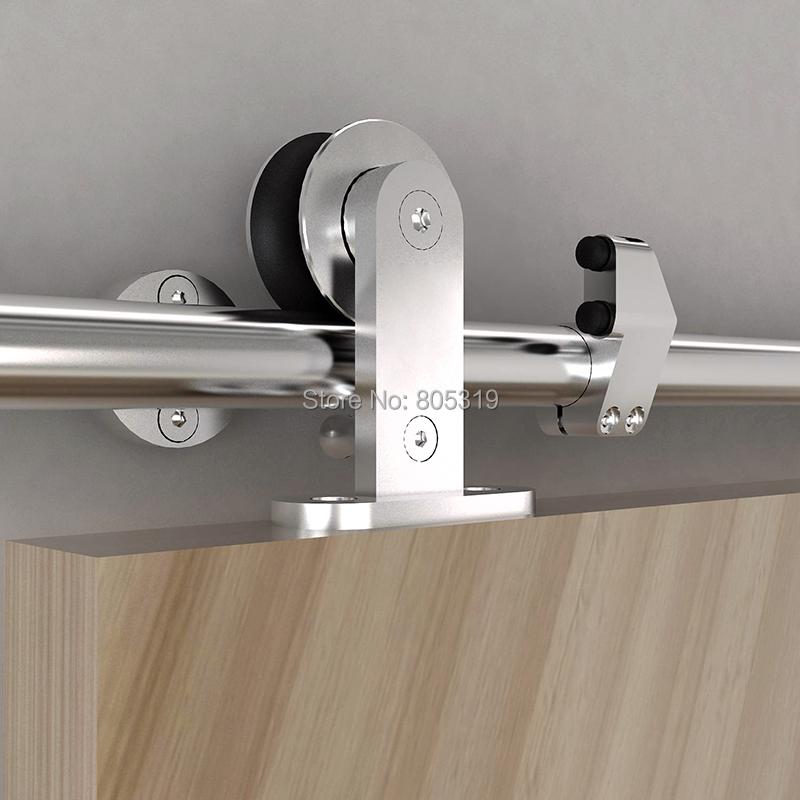 Buy 5ft european style sliding barn wood door hardware top mount - Tips keeping sliding doors reliable functional ...