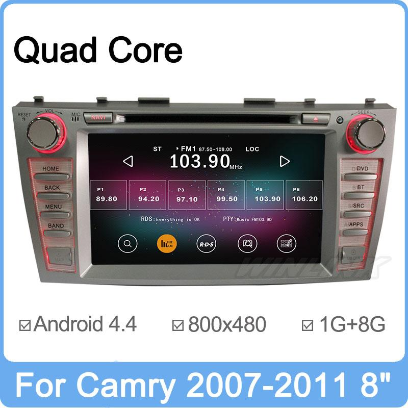 Quad Core 2din Android 4.4 Car DVD GPS For Toyota Camry 2007 2008 2009 2010 2011 Radio 3G CD USB WiFi Support DVR OBD TPMS OBD(China (Mainland))